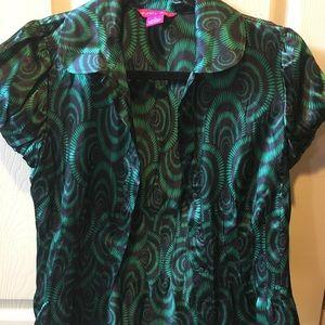 Sunny Leigh 100% silk blouse